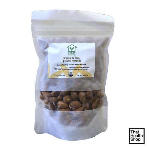 Vegan House Raw Organic Sprouted Almonds  (227g)