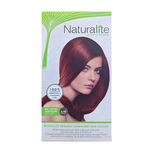 Naturalite Organic Permanent Hair Colour 6.45 ( Red Coppery Dark Blond)