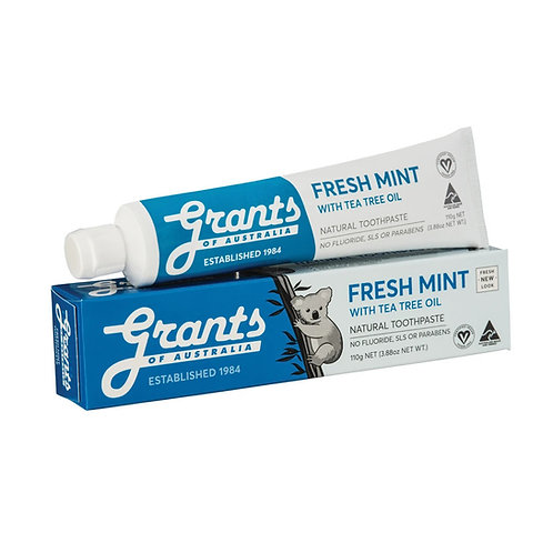 Grants of Australia Fresh Mint with Tea Tree Oil Toothpaste (110g)