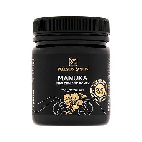 Watson & Son Manuka New Zealand Honey, Certified MGO 300+ (250g)