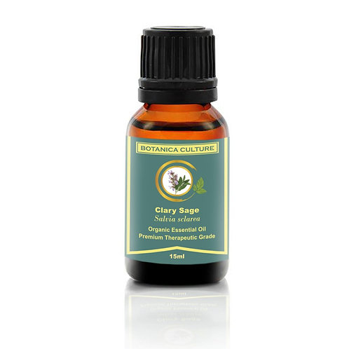 Botanica Culture Organic Clary Sage Essential Oil (15ml)