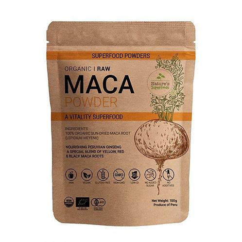 Nature's Superfoods Organic Raw Maca Powder (100g)