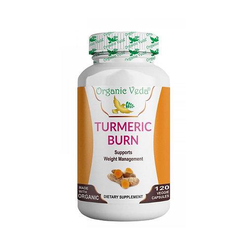 Organic Veda Turmeric Burn (120 Capsules)