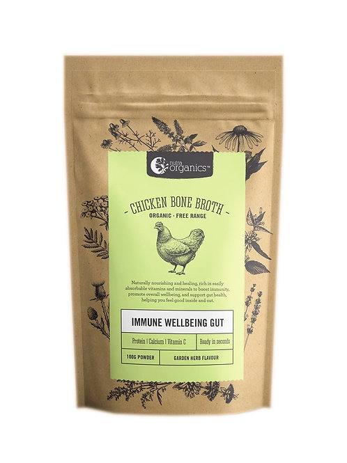 Nutra Organics Chicken Bone Broth Garden Herb (100g)