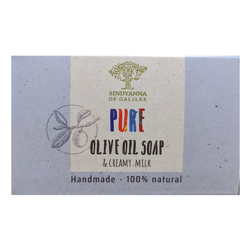 Sindyanna of Galilee Pure Olive Oil Soap, Creamy Milk (100g)