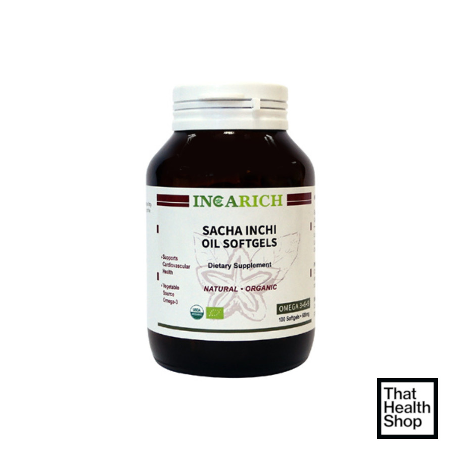 Incarich Sacha Inchi Oil Soft Gels (100g)