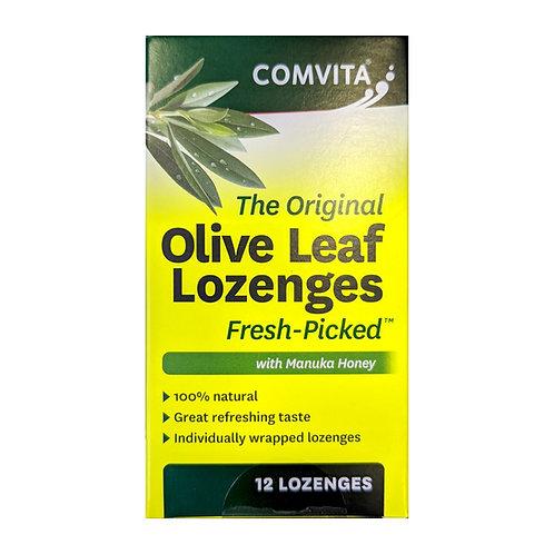 Comvita Olive Leaf Extract Lozenges with Manuka Honey (12 Lozenges)