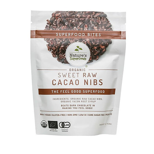 Nature's Superfoods Organic Sweet Cacao Nibs (with Yacon Syrup) 150g