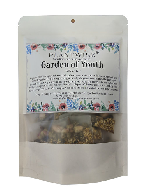 Tea Voyage Plantwise Garden of Youth (20 Herb Bags)