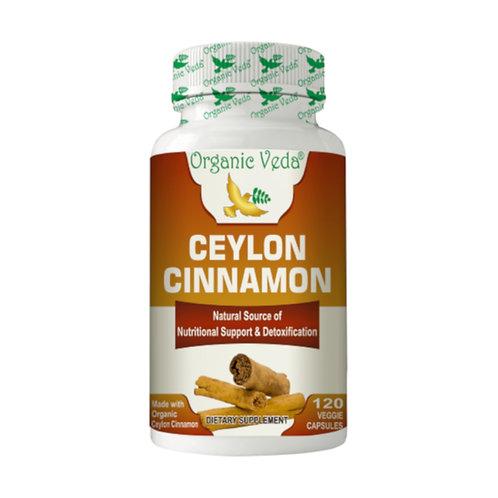 Organic Veda Ceylon Cinnamon (120 capsules)