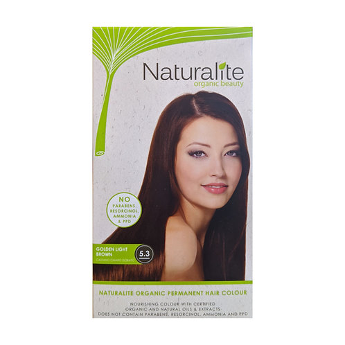 Naturalite Organic Permanent Hair Colour 5.3 (Golden Light Brown)