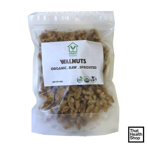 Vegan House Organic Raw Sprouted Walnuts (150g)
