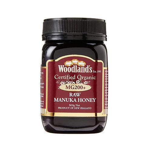 Woodlands Organic Raw Manuka Honey MG 200+ (500g)