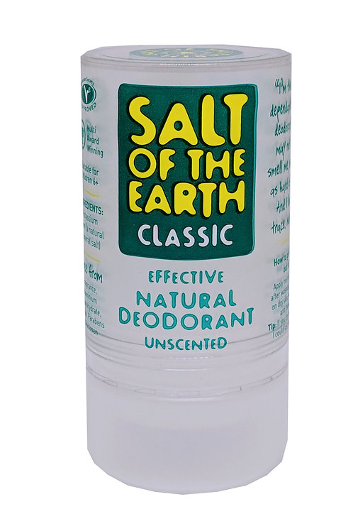 SALT OF THE EARTH Effective Natural Deodorant Roll On Stick Uncented (90 g)