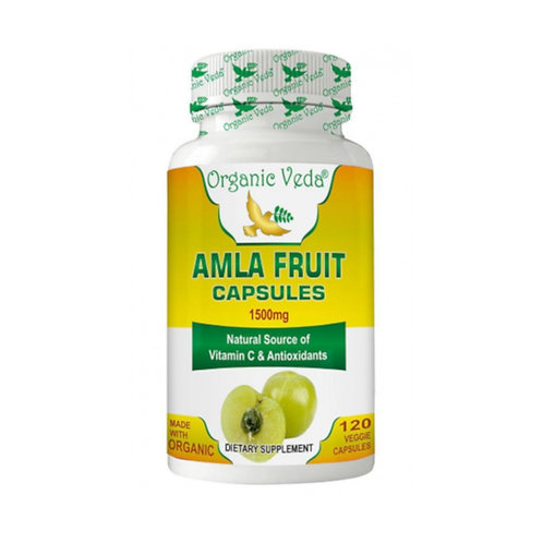 Organic Veda Amla Fruit (120 Capsules)