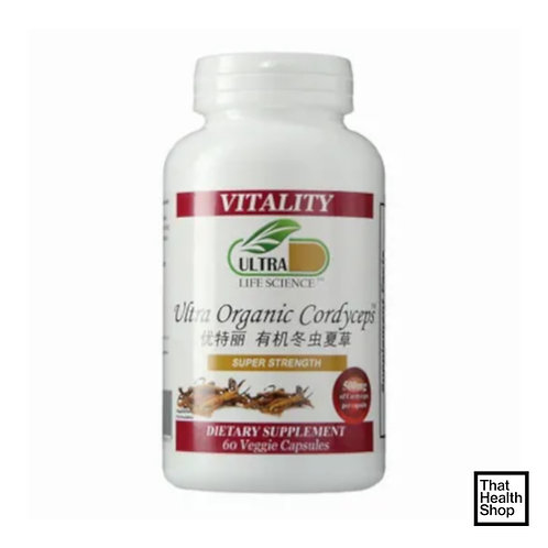 Ultra LIfe Science Ultra Organic Cordyceps (60 Capsules)