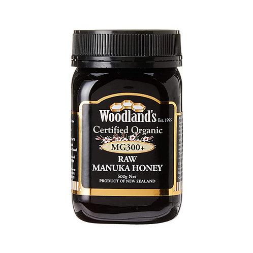 Woodlands Organic Raw Manuka Honey MG 300+ (500g)