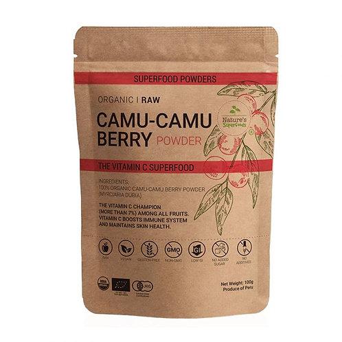 Nature's Superfoods Organic Raw CAMU-CAMU Berry Powder (100g)