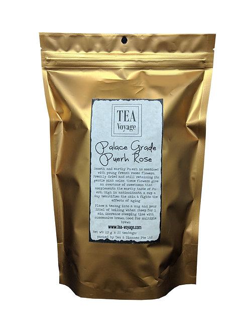 Tea Voyage Palace Grade Puerh Rose (20 Tea Bags)