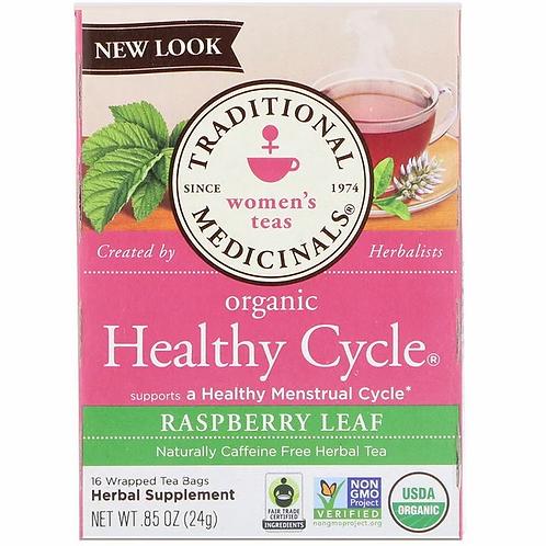 Traditional Medicinals Organic, Women's Teas, Organic Healthy Cycle, Raspberry