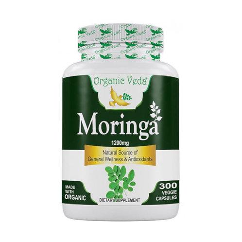 Organic Veda Moringa (300 Capsules)