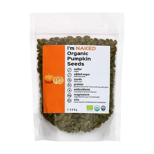 Naked Organic Pumpkin Seeds, 200g