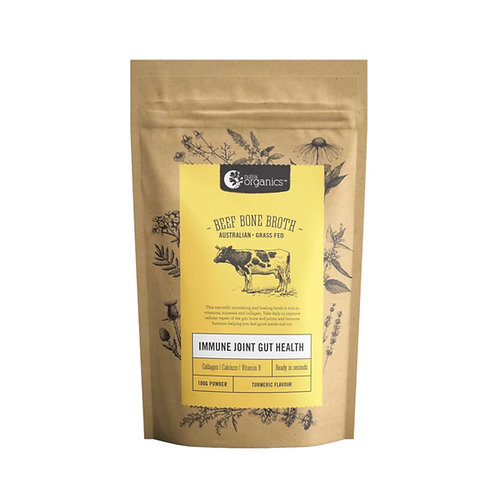 [Batch Expiry June 2021] Nutra Organics Beef Bone Broth Turmeric (100g)