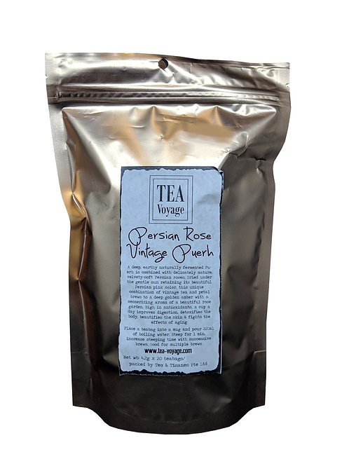TEA VOYAGE Persian Rose Vintage Puerh (20 Teabags)