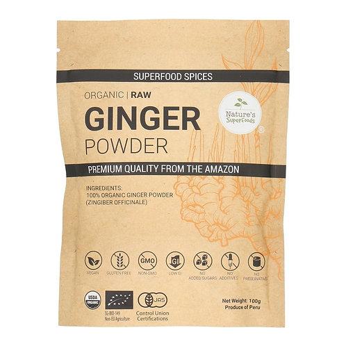 Nature's Superfoods Organic Raw GINGER Powder (100g)