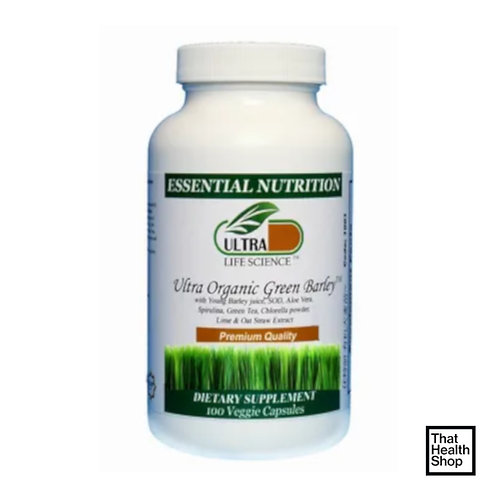 Ultra Life Science Ultra Organic Green Barley (100 Capsules)