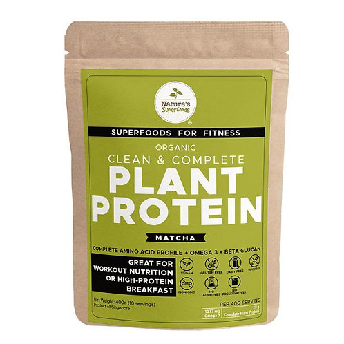 Nature's Superfoods Organic Plant Protein Powder (with Matcha) 400g