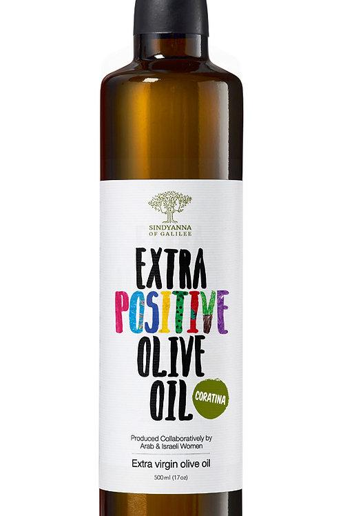 Sindyanna of Galilee Extra Virgin Olive Oil (Positive-Coratina) 500ml