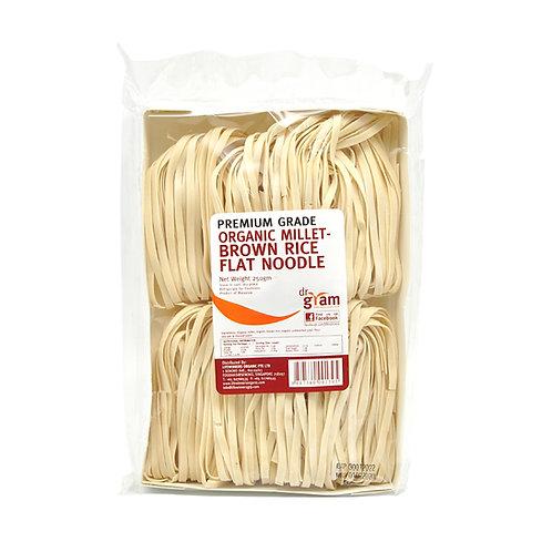 Dr Gram Organic Millet Brown Rice Flat Noodle 250g