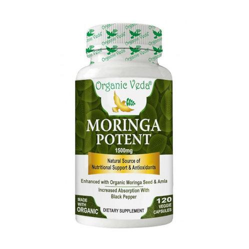 Organic Veda Moringa Potent (120 Capsules)