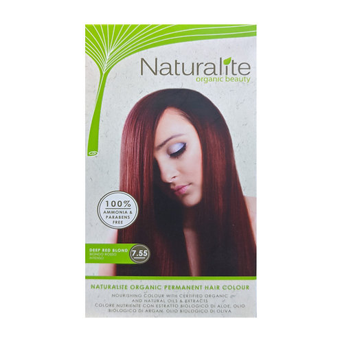 Naturalite Organic Permanent Hair Colour 7.55 (Deep Red Blond)
