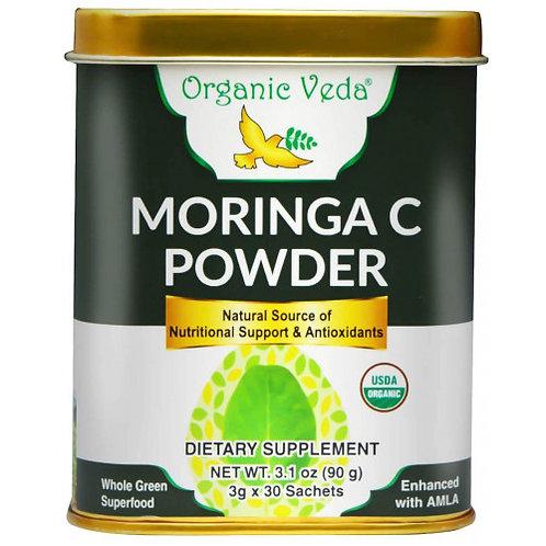 Organic Veda Moringa C Powder Sachet (3gx30 Sachets)
