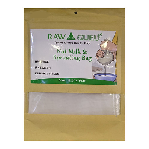 "Raw Guru Nut Milk and Sprouting Bag ( 12.5"" x 14.5"")"