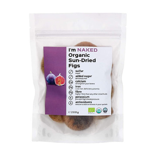 Naked Organic Sun-Dried Figs, 200g