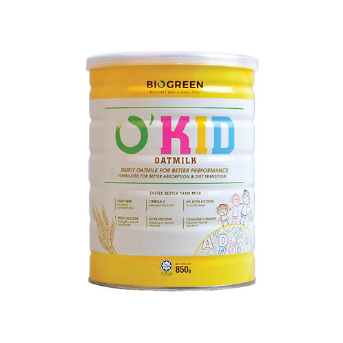Biogreen O'Kid Dairy Free Oatmilk 850g
