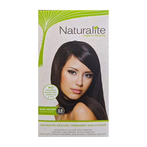 Naturalite Organic Permanent Hair Colour 3.0 (Dark Brown)