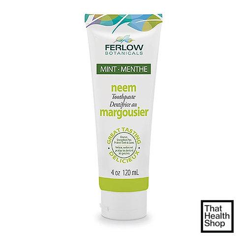 Ferlow Botanicals Neem Toothpaste 120ml (4oz) Mint