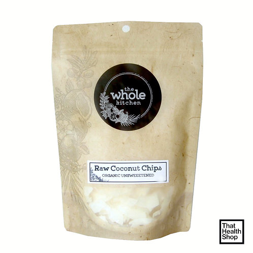 The Whole Kitchen Organic Raw Coconut Chips - Unsweetened (200g)