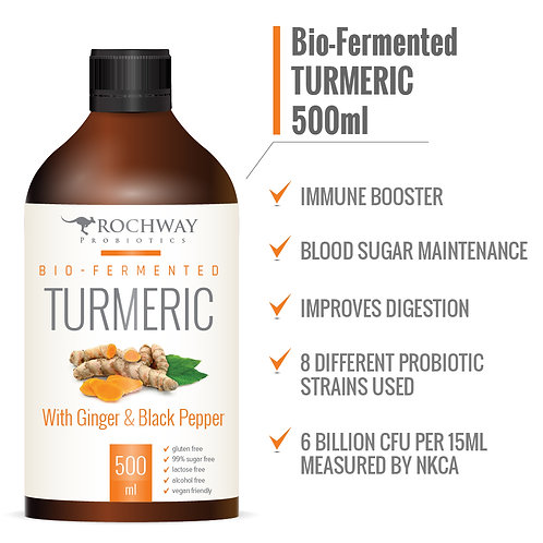 Rochway Bio-Fermented Turmeric with Ginger and Black Pepper (500 ml)
