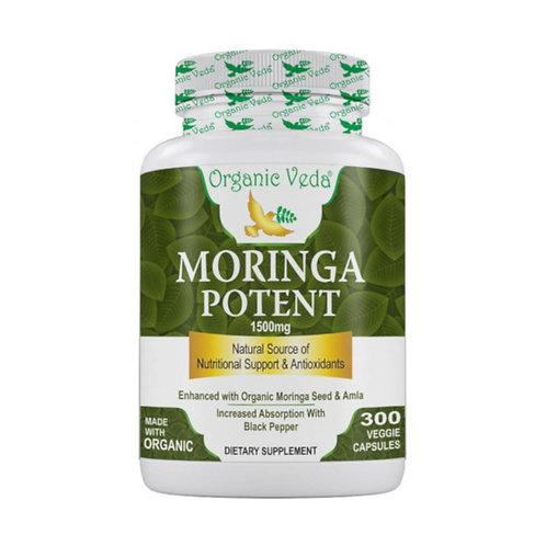 Organic Veda Moringa Potent (300 Capsules)