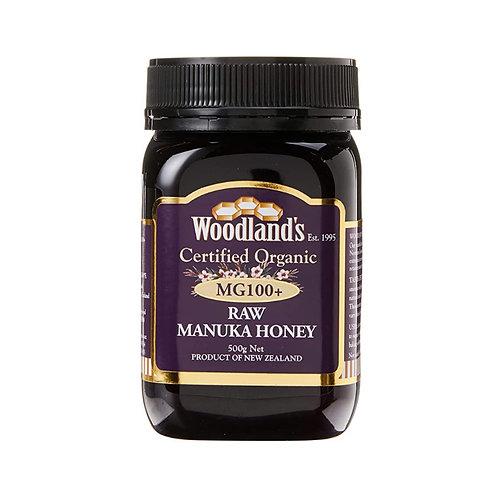 Woodlands Organic Raw Manuka Honey MG 100+ (500g)