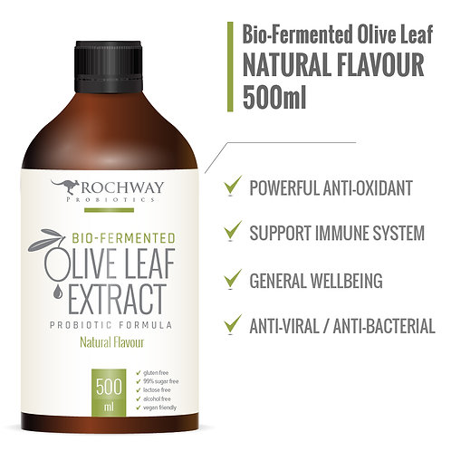 Rochway Bio-Fermented Olive Leaf Extract Natural Flavour (500 ml)