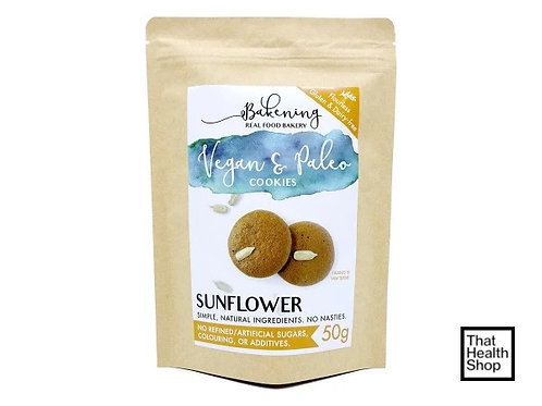 [Clearance - Exp 9/20] Bakening Vegan and Paleo Cookies Sunflower Crunch (50g)