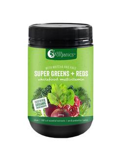 Nutra Organics Super Greens + Reds 300g_