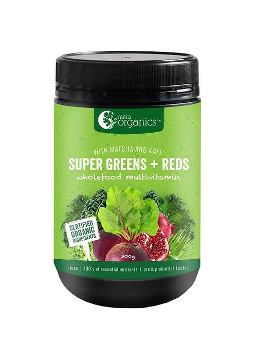Nutra Organics Super Greens + Reds (300g)