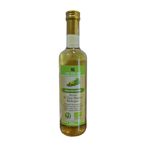 Crudigno Organic Aceto Di Vino (White Wine Vinegar) 500ml